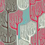Verwunschener Wald Nahtloses Vektormuster