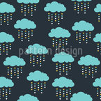 Liebes-Regen Nahtloses Vektormuster