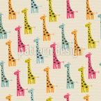 Doodle Giraffen Nahtloses Vektor Muster