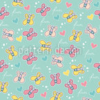Butterflies And Font Vector Pattern