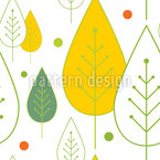 Haunted Leaf Forest Pattern Design