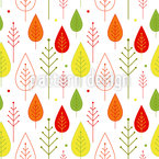 Abstract Leaf Forest Pattern Design