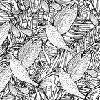 Tropischer Kolibri Nahtloses Vektormuster