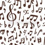 Musiknoten-Tanz Nahtloses Vektormuster