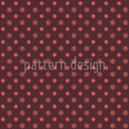 Polka Dot Blumentraum Vektor Muster