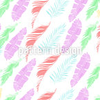 Tropical Wind Feathers Seamless Vector Pattern Design