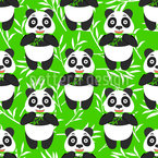 Panda Eating Bamboo Design Pattern
