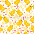 Sweet Easter Chicks Seamless Vector Pattern Design