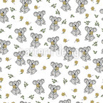 Koala And Flowers Vector Design