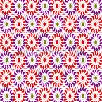 Fireball Flowers Seamless Vector Pattern Design