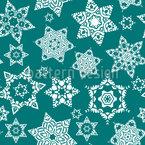 Kristallisierte Sterne Musterdesign