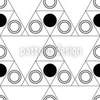 Triple Dot Schwarz Nahtloses Vektormuster