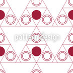 Triple Dot Red Seamless Vector Pattern Design
