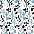 Block Print Twigs Repeating Pattern