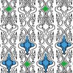 Verschlungene Lametta Nahtloses Vektor Muster