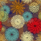 Blumenbälle Nahtloses Vektormuster