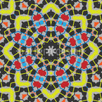 Mandala Roseta Design de padrão vetorial sem costura