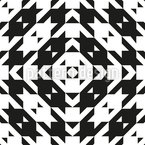Houndstooth Tile Seamless Vector Pattern Design