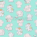 Fröhliche Elefanten Nahtloses Muster