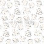 Spielende Elefanten Nahtloses Vektor Muster