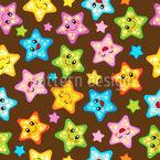 Sonhos Estrela do Mar Design de padrão vetorial sem costura