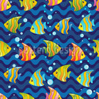 Fish Junction Motif Vectoriel Sans Couture