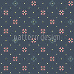 Intersection Of Heart Flowers Vector Pattern