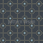 Punkte Rundum Sterne Nahtloses Vektormuster