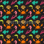 Ocean Life Seamless Vector Pattern Design