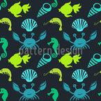 Unterwasserbevölkerung Nahtloses Muster