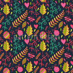 Rippling Leafage Seamless Vector Pattern