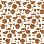 Summer Afternoon Coffee Seamless Vector Pattern Design