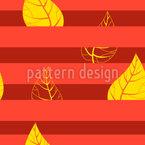 Gestreifte Blätter Muster Design