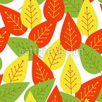 Funny Leaf Seamless Vector Pattern Design