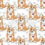 Cute Welsh Corgi Seamless Pattern