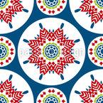 Estrelas Redondas Design de padrão vetorial sem costura