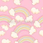 Magische Regenbogen Nahtloses Vektormuster