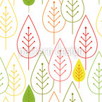 Minimalist Tree Seamless Vector Pattern Design
