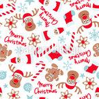 Weihnachten mit Elchen Muster Design