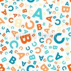 Zurück zur Schule - ABC Nahtloses Vektormuster