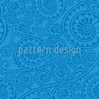 Jodhpur Blue Seamless Vector Pattern Design
