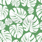 Hoja de Monstera Tropical Estampado Vectorial Sin Costura
