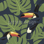 Toucan Seamless Vector Pattern Design
