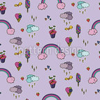 Cute Stickers Seamless Vector Pattern Design