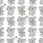 Glücklicher Koala Nahtloses Muster