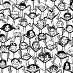Lesende Kinder Nahtloses Vektormuster