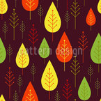 Falling Leaves Seamless Vector Pattern Design