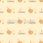 I Love Cookies Seamless Vector Pattern Design