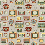 Retro Electronics Pattern Design