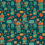 Save Robots Pattern Design